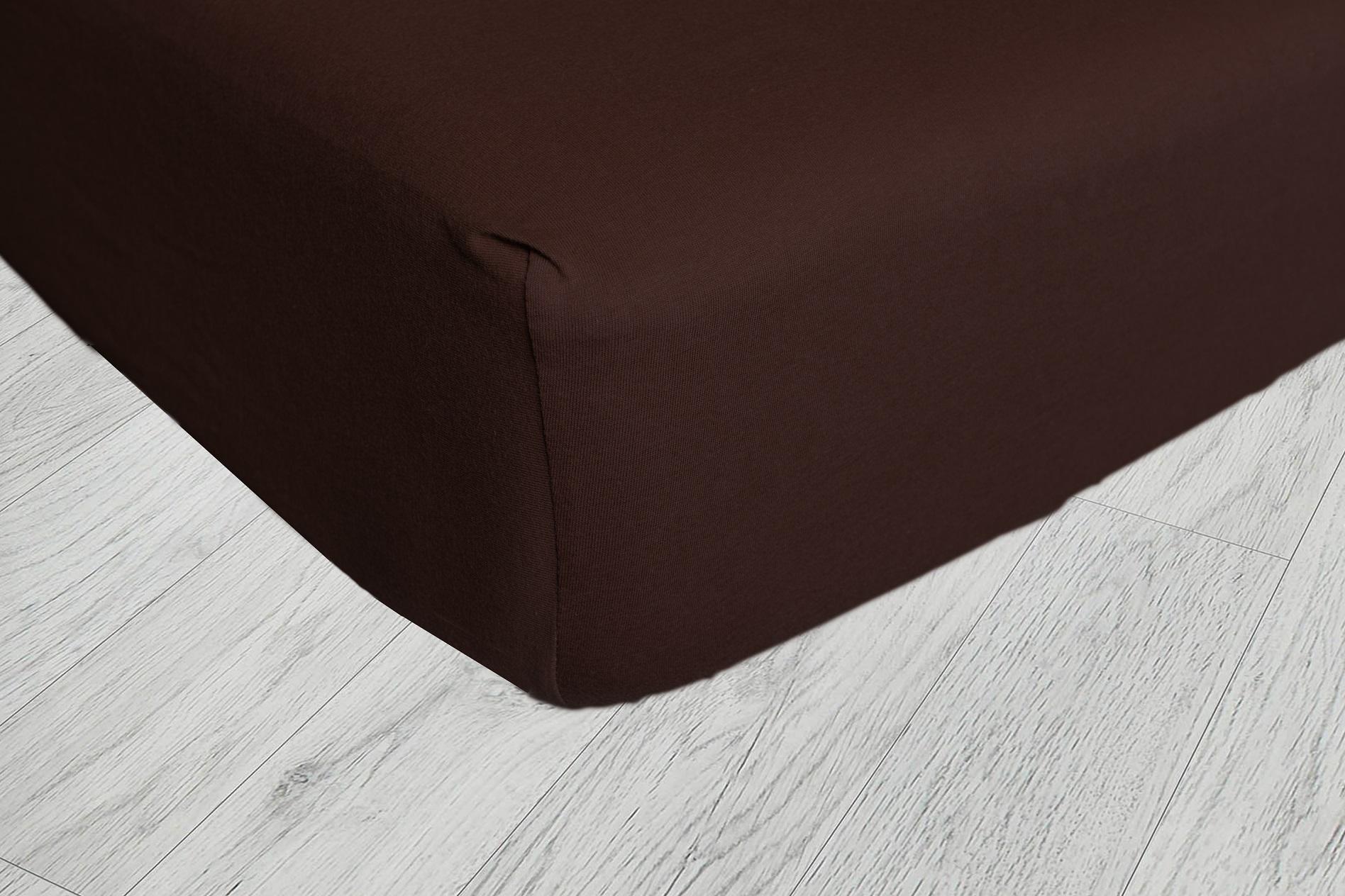 Plachty jersey - Čokoládová