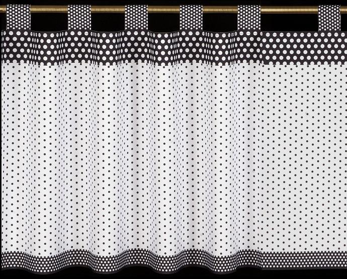 Záclona - 060 bielo-sivá tmavá