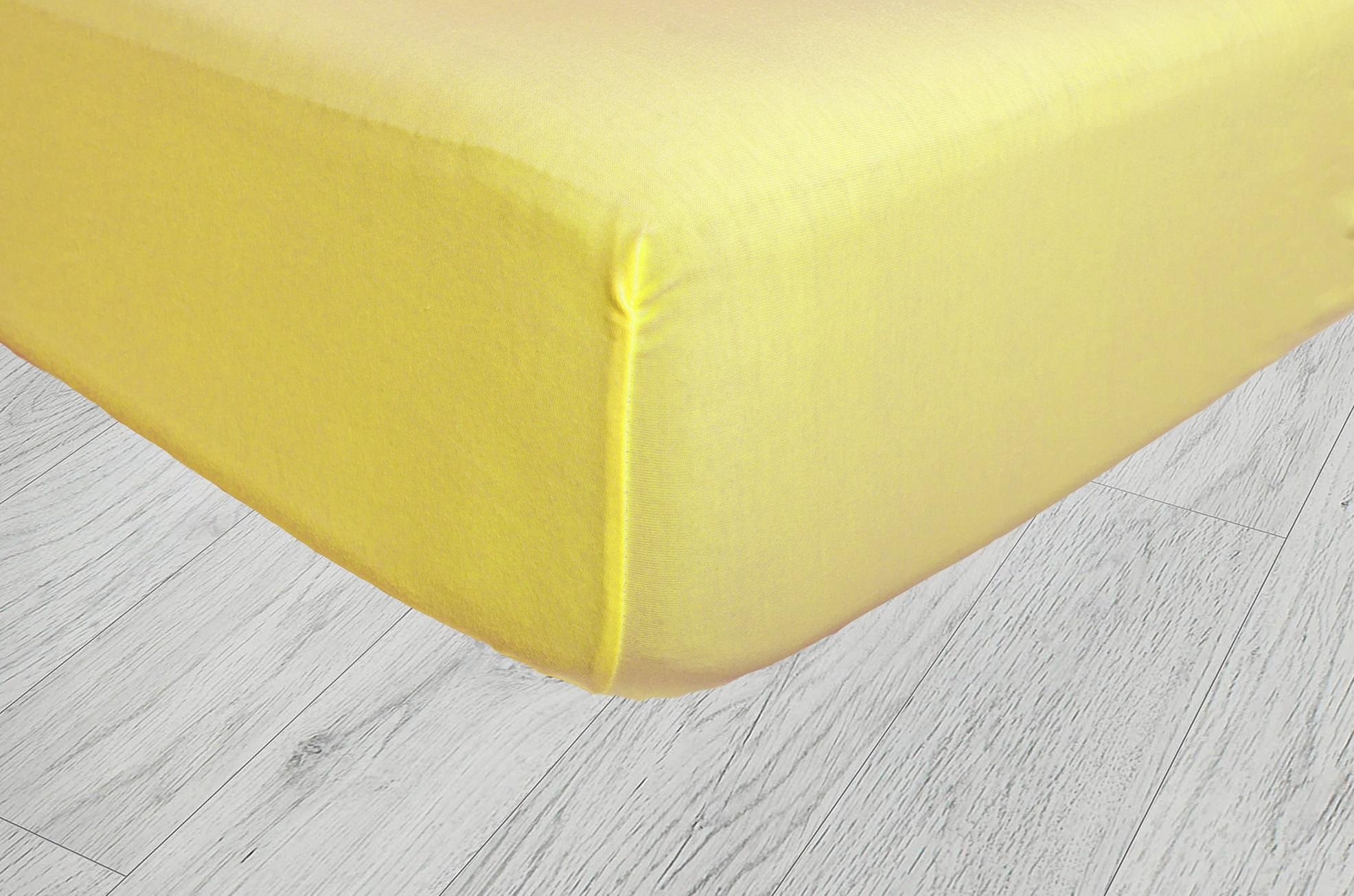 Plachty jersey - Tmavá žltá 07
