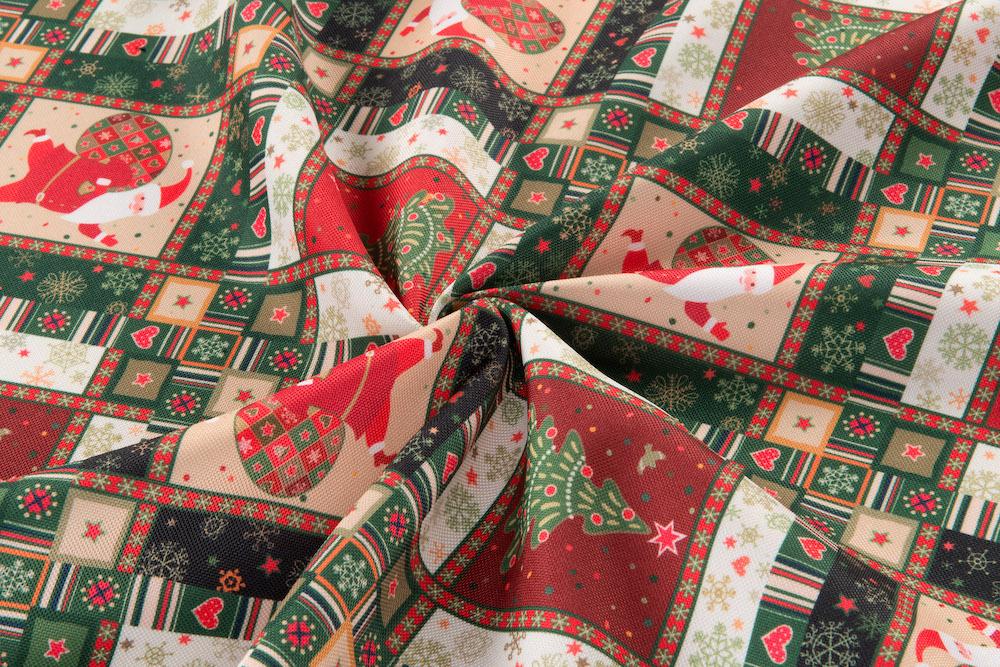 Dekoračná vianočná látka - Santa Claus