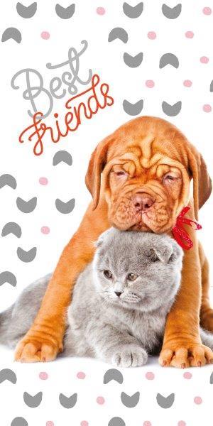 Osuška froté - Pes a mačka
