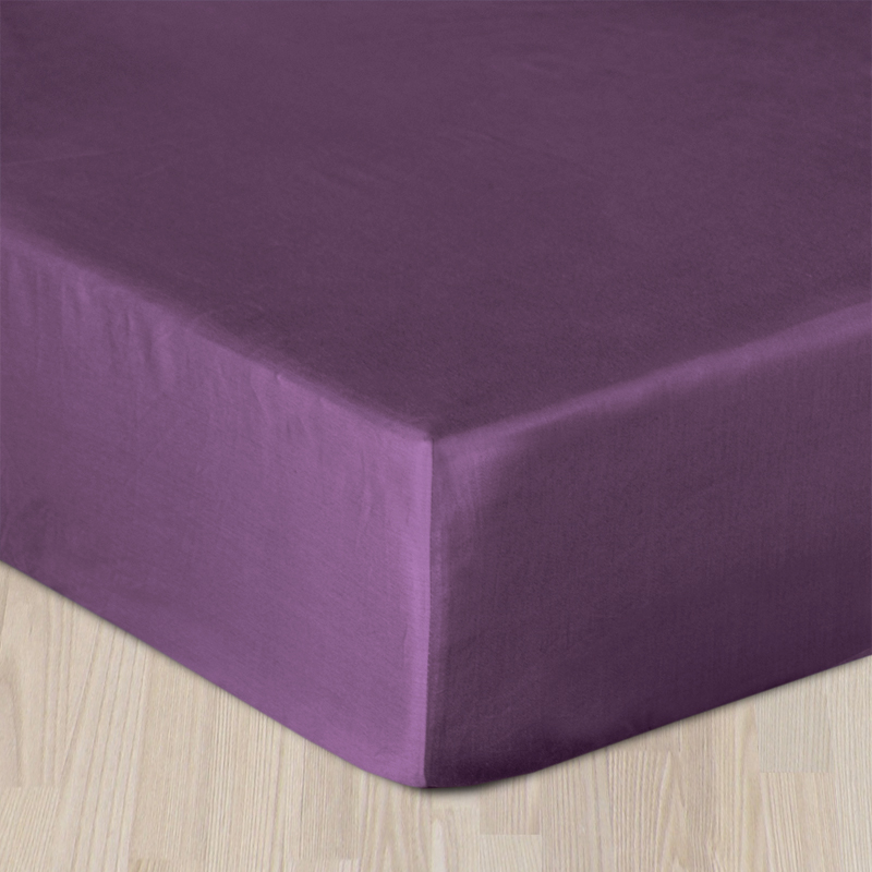 Plachta bavlnený satén s gumkou - fialová