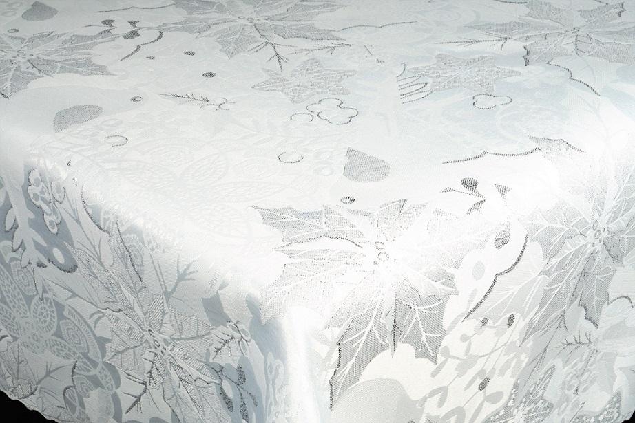 Vianočný obrus LUX - Noel bielo strieborný
