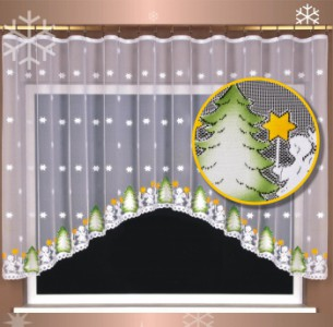 Záclona viánoční 3481