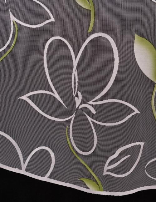 Hotové záclony 4016 so zeleným vzorom