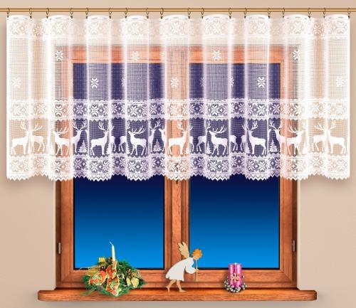 Vianočná záclona - 4490
