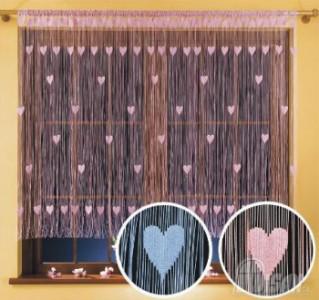 Záclona hotová VALENTÍNKA