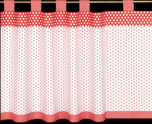 Záclona - 060 bielo-červená