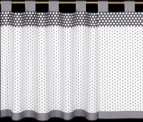 Záclona - 060 bielo-sivá