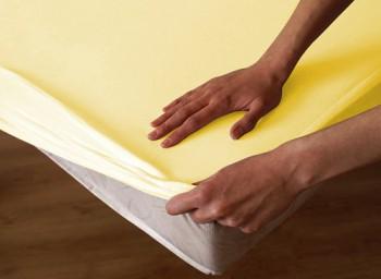 Ochraná plachta  bavlna - žltá