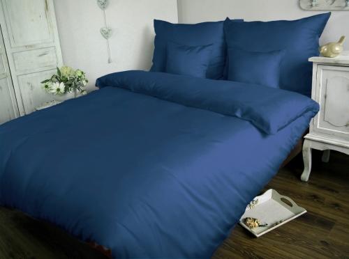 Obliečka bavlnený satén modrá