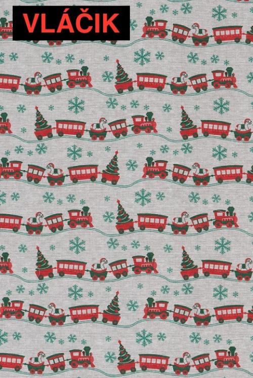 Vianočný záves - Vláčik-Ambrož-Mikuláš