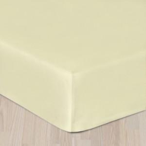 Plachta bavlenny satén s gumkou - krémová