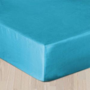 Plachta bavlneny satén s gumkou - Tyrkysovo modrá
