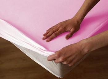 Ochraná plachta  bavlna -  růžová