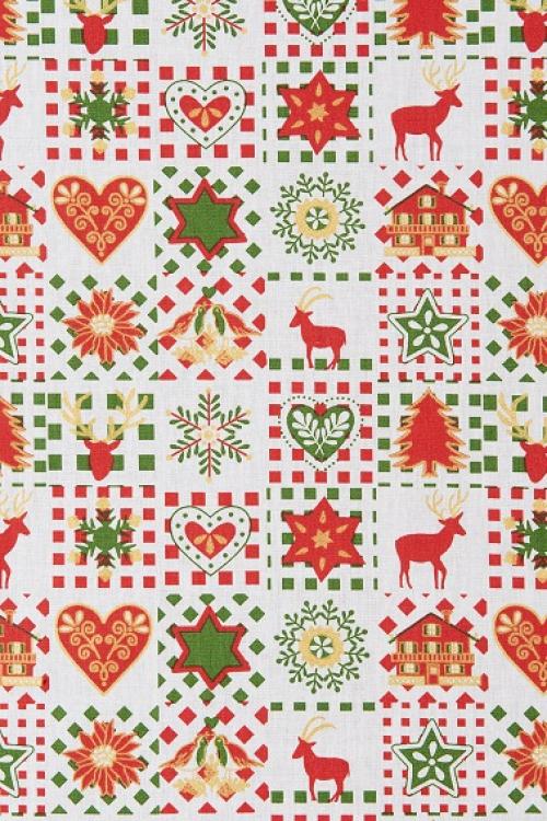 Hotové záclony vianočný vzor 1