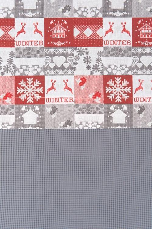 Hotové záclony-vianočný vzor 3