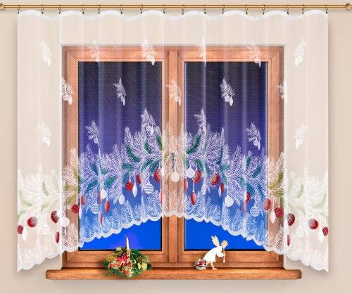 Hotová vianočná záclona - 4620
